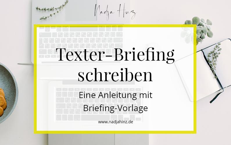 Texter-Briefing schreiben – Eine Anleitung mit Vorlage