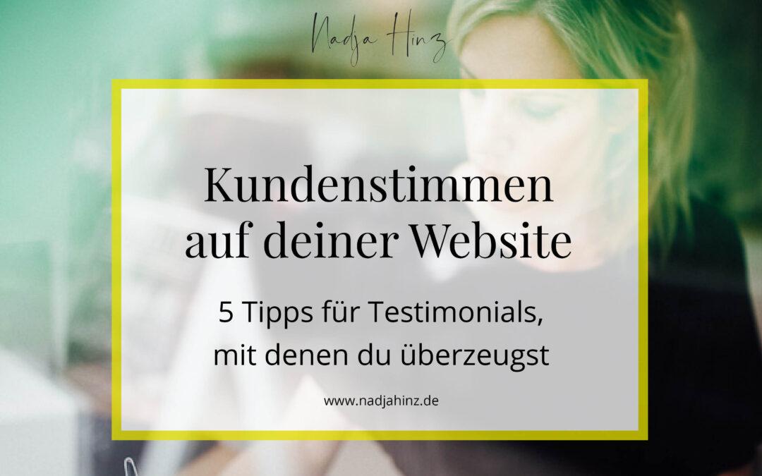 Kundenstimmen auf deiner Website: 5 Tipps für Testimonials, mit denen du überzeugst