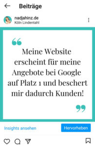 Kundenstimmen auf deiner Website - Nadja Hinz